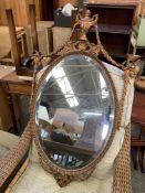 Gilt carved wood frame bevelled edge mirror by AW Morris (Repro) Ltd