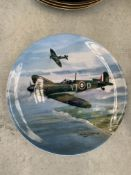 Royal Worcester Dambusters plates and Royal Doulton Spitfire plates