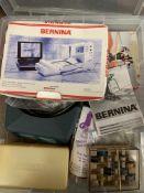 Bernina minimatic portable sewing machine and box accessories.
