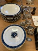 Quantity of Wedgwood Chadwick dinnerware, and several Royal Copenhagen animal figurines