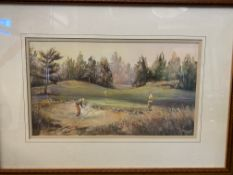 Four framed and glazed watercolours