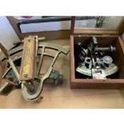 Two brass sextants