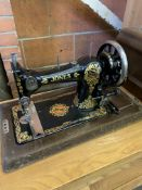 Two Jones' Family C.S decorative manual sewing machines