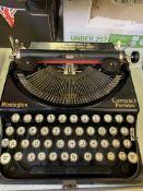 Remington compact portable typewriter in original hard case