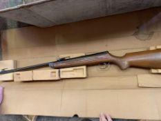 BSA meteor .177 calibre, break barrel air rifle complete with original box