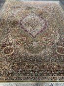 Kishan brown ground wool rug