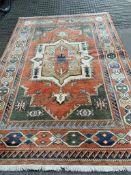 Salmon ground Kabir carpet