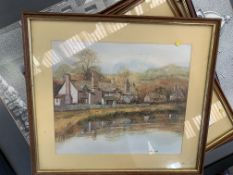 Ten framed and glazed prints of various subjects