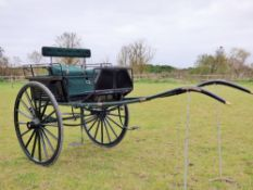 DOG CART by Lawton of Liverpool to fit 15.2 to 16.2hh. Refurbished by Fairbourne Carriages.