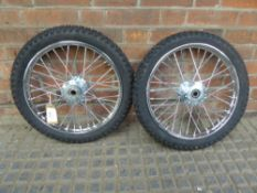 Pair of wheels and tyres, 16ins - carries VAT