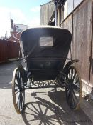 VICTORIA to suit 13 to 15hh; in an unrestored condition, painted blue with black lining.