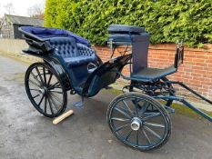VICTORIA to suit 15hh. A smart looking vehicle painted dark blue with cream lining.