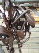 Set of brown Shetland harness with stainless steel fittings and quick release tugs - carries VAT.