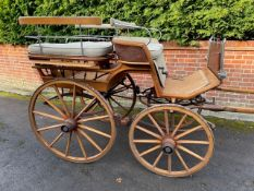 WAGONETTE to suit 15hh. An attractive vehicle finished in natural varnished wood.