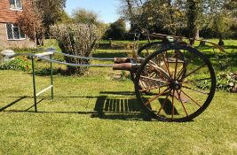 ROAD CART, English made with stainless steel shafts and box seat.
