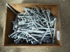 Box of carriage bolts and screws