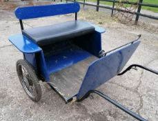 TWO-WHEEL CART to suit 10.2hh donkey or small pony. An ideal cart for a beginner.