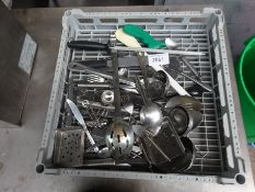 Tray of utensils