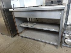 Stainless steel three tier table