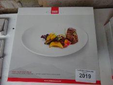 Three boxes of Ruhn Rikon two piece set 30cms steak plates.