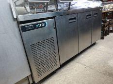 Foster mobile 3 door counter top fridge
