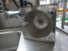 Hand sink with tap
