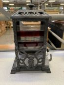 Wright and Butler 'Cheerfu'l petroleum stove lamp,