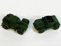 Meccano Ltd, Dinky Toys armoured car and scout car
