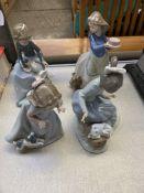 Four NAO figurines
