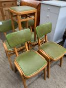 Four 1960's chairs and matching stool
