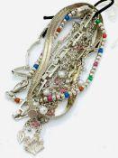 Six various silver bracelets