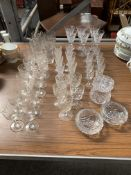 Quantity of approximately 49 glass Victorian and later drinking glasses