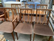 A group of six G-Plan chairs