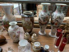 Quantity of vases, other ceramics and glassware