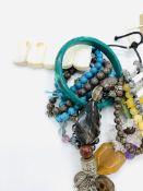 Twelve various gemstone bracelets