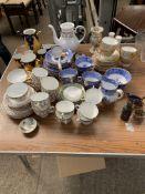 Quantity of part tea set, including Shelley, Spode, Royal Worcester