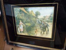 Seventeen various framed and glazed prints