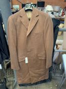 Dunhill 100% cashmere camel coloured coat, and 5 pairs of Dunhill trousers
