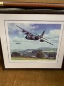 Two framed and glazed limited edition prints of RAF aircraft