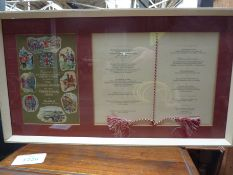 Menu card in celebration of the Golden Jubilee of the Territorial Army, Guildhall, 1958