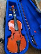 The Stentor Student 1 1/2 violin with case and bow