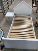Child's white painted wooden single bed