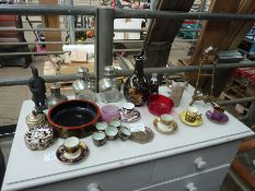 Quantity of china and glass ornaments