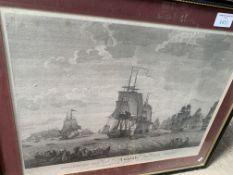 Three framed and glazed prints