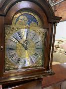Modern mahogany longcase clock by Richard Broad of Bodmin, Cornwall.