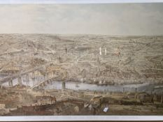 Framed and glazed print of Newcastle upon Tyne