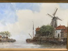 Jan Van Couver (aka Hermanus Koekkoek Jnr) (Dutch 1836-1909). A framed and glazed watercolour