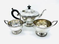 A silver tea service hallmarked Birmingham 1931 by Marson & Jones
