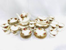 Royal Albert 'Old Country Roses' tea set and 19 pieces of dinnerware.