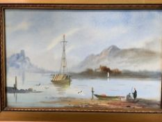 A pair of gilt framed and glazed watercolours